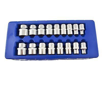 """WohltäTig 1/2""""-antrieb Metrisch Mm Flachen Buchse Bi-hex 12 Beidseitig 10mm - 30mm 17pc Aromatischer Geschmack"""