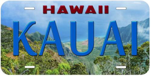 Kauai Hawaii Aluminum Novelty Car Auto License Plate