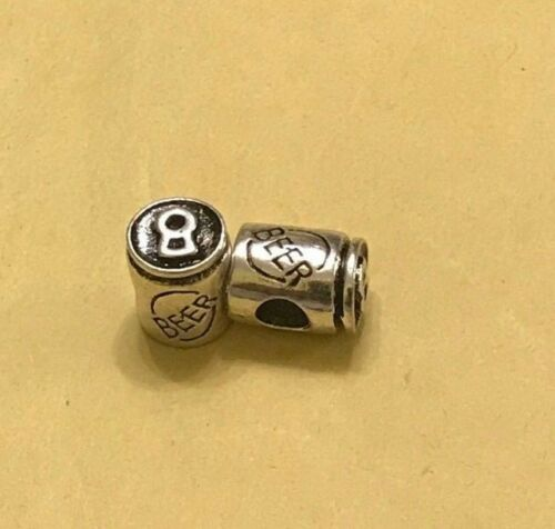 /'Beer/' Can 3D Charm Bead Fits European Bracelets /& Necklace
