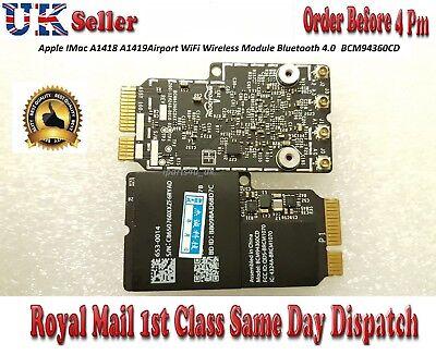 Apple iMac A1418 A1419 WiFi Wireless Adapter Card Airport 802 11AC  BCM94360CD | eBay