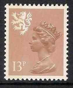 Scotland 1984 S39 13p litho side band perf 14 type I Regional Machin MNH - Yorkshire, United Kingdom - Scotland 1984 S39 13p litho side band perf 14 type I Regional Machin MNH - Yorkshire, United Kingdom