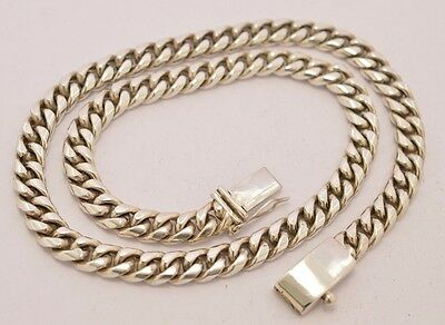 """Taxco Mexican 925 Sterling Silver Curb Chain Necklace. 143g, 55cm, 21.5"""""""