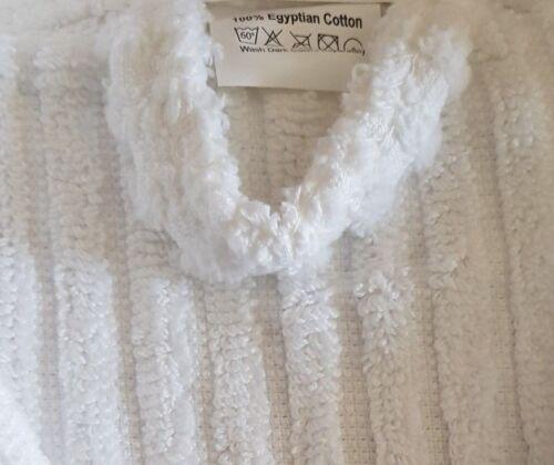 Ladies asciugamano morbido New Velour Stripe accappatoio Egiziano asciugamano bianco spugna Cotton Ladies fwFY0q5