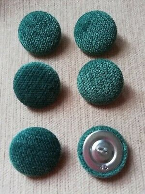 Bright Green 45L//28mm Fabric Covered Buttons Craft Sewing Upholstery