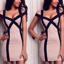 H Women's Summer Bandage Bodycon Evening Party Cocktail Club Short Mini Dress XL