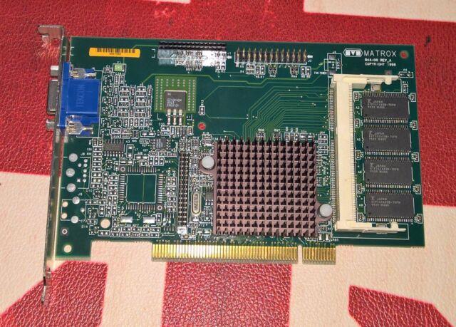 Matrox Millennium G200 8MB PCI no G400 G450 16MB upg. G2+/MSDP/8C