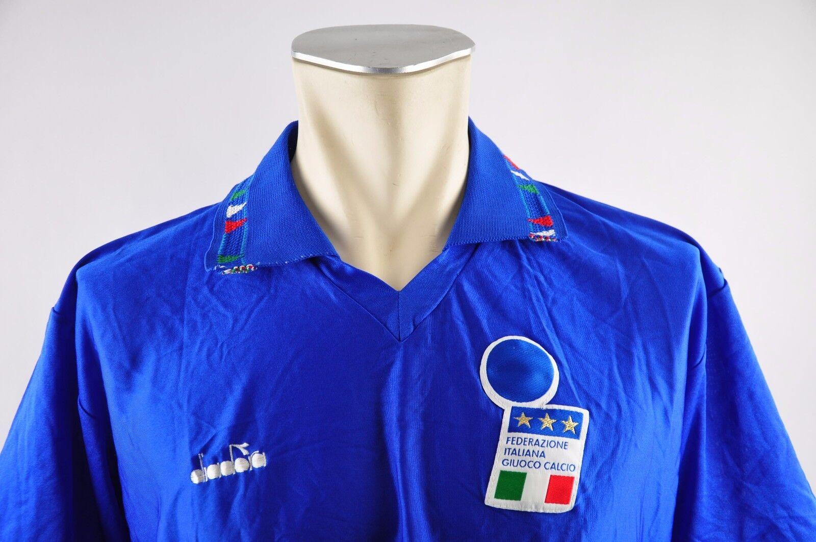 Italien Trikot 1992 Gr. XL vintage Jersey EM EM EM Home blau  maglia Diadora WM  | Komfort  e6c83c