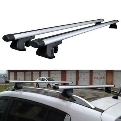 48 120CM Aluminum Top Roof Rack Cross Bar Carrier Lock Adjustable Bracket