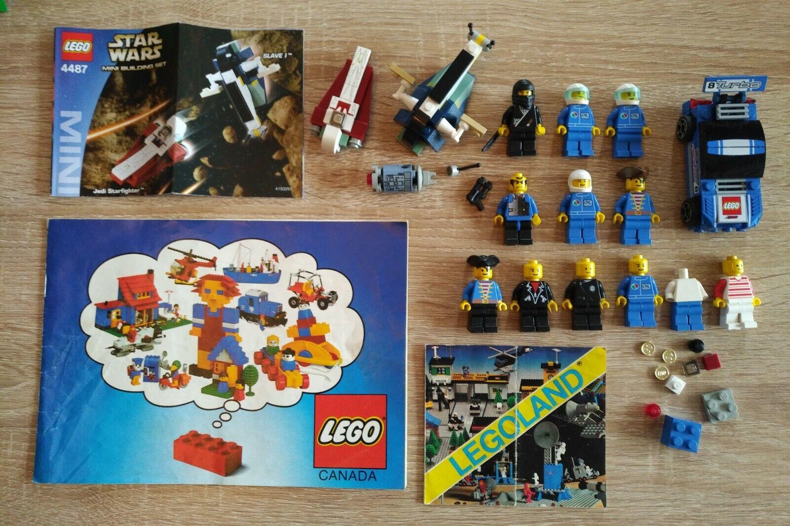 Lego Minifigure Lot  Plus Extras  Star Wars Set 4487, Vintage Pamphlets, Ninja..