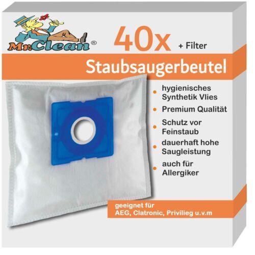 40 Mr.Clean Staubsaugerbeutel geeig Sencor SVC 45 Sencor SVC45BK power 1400w