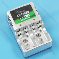 New Ni-MH Ni-CD AA AAA 9V Rechargeable Battery Charger
