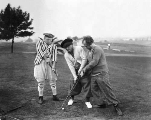 Curly Larry Print Poster Golfing THREE 3 STOOGES Glossy 8x10 Photo Moe