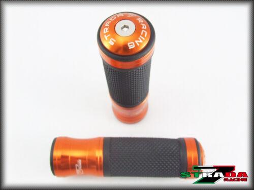 Strada 7 Racing CNC Orange Grips /& Bar Ends Combo Hyosung GT250R GT650R