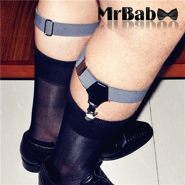 HOT New Single Clip Men's Silk Cotton Socks Garters,Men's Socks Suspenders Belt