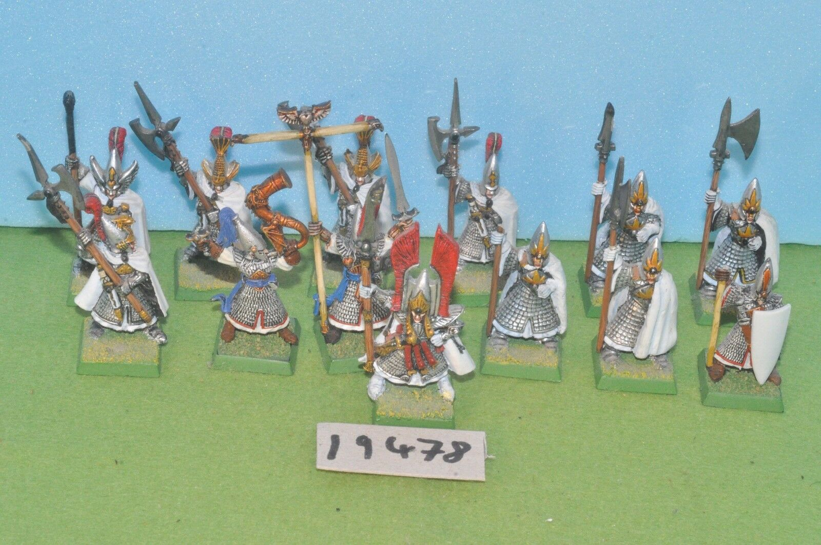 Item fantasy   warhammer - high elf 13 phoenix guard spearmen 4 plastic -(19478)