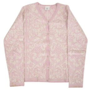 Dale-of-Norway-Cotton-Women-039-s-Sweater-Size-Medium-in-Pink-and-Cream
