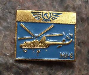 Aeroflot Russian Mil-Mi 6 Hook Passenger Transport Airlines Helicopter Pin Badge
