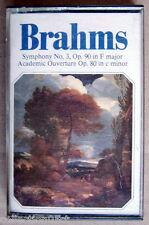 1986's AUDIO CASSETTE, BRAHMS, SYMPHONY No.3 OP.90 IN F MAJOR,ACADEMIC OUVERTURE