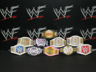 8 x WWE Custom made Bundle titoli cinghie per Jakks//Mattel Wrestling Figure WWF