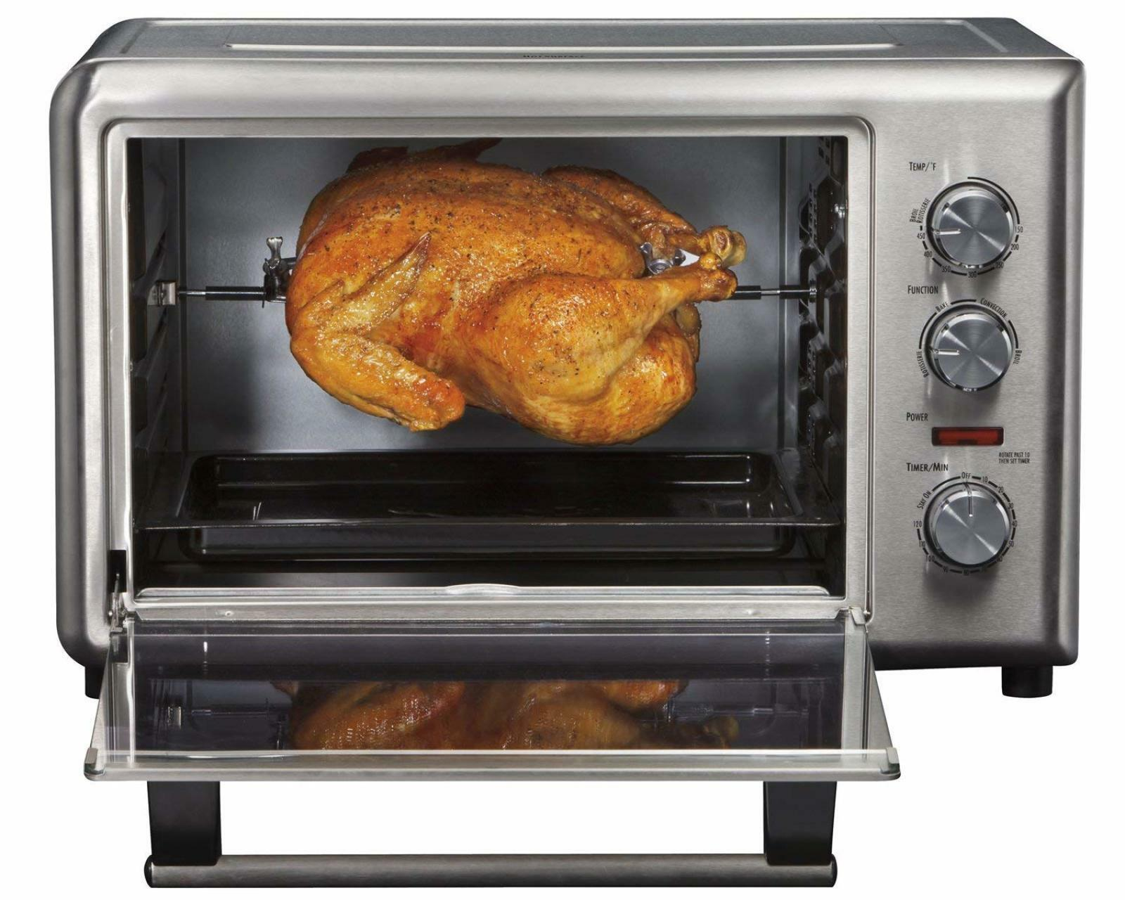 Hamilton Beach Countertop Convection Toaster Oven and redisserie Stainless Steel
