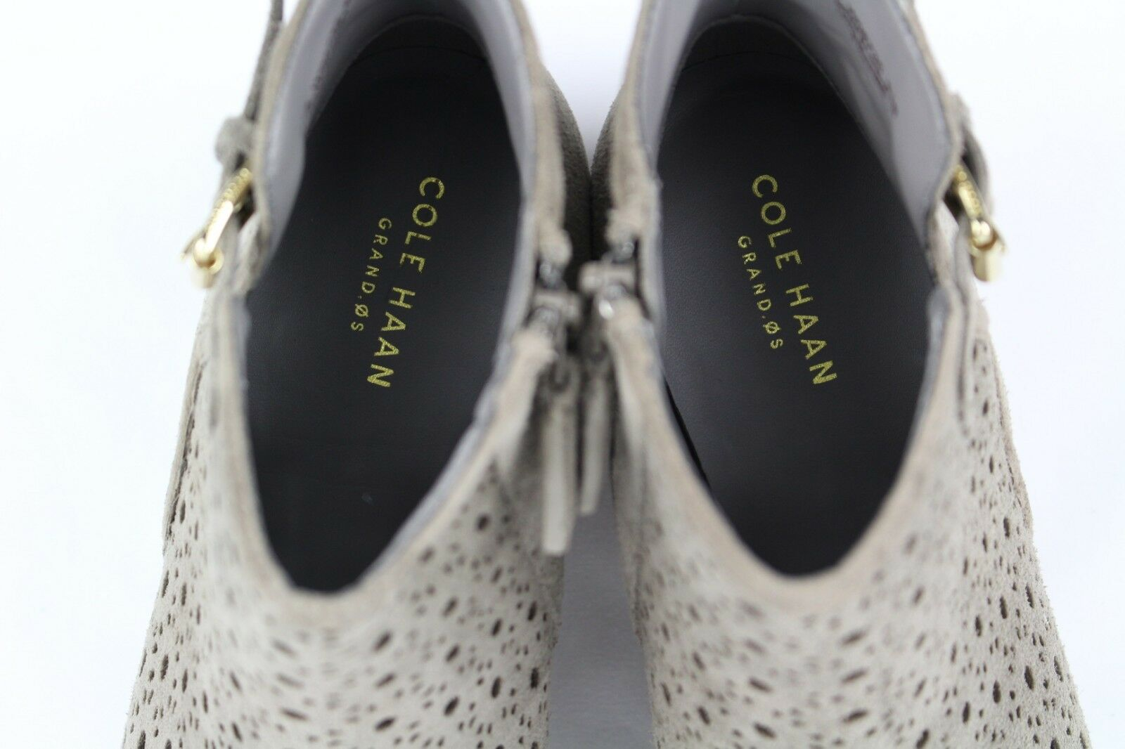 Cole Haan para mujer Willette Willette Willette botín perforada 45mm Talla 10.5 Sea Otter   W08735 f8f1c6