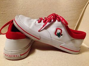 ohio state buckeyes logo tennis shoes sneakers s
