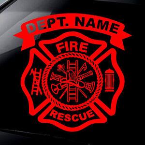 """FireFighter Decal Bumper Sticker 3/"""" x 3/"""" Fire Rescue EMT Fireman Volunteer"""