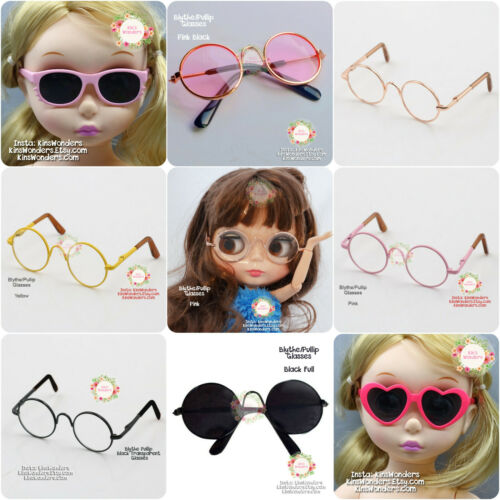 Blythe Glasses Pullip Black Cute doll Glasses Customise Blythe Repaint Accessory