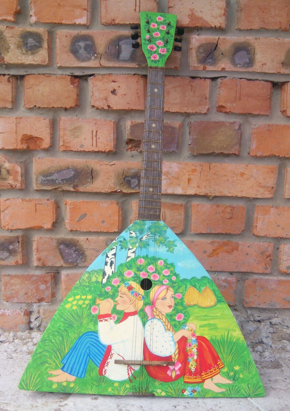 USSR Russia Ukraine Musical instrument BALALAYKA Vanya and Mania