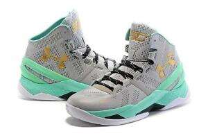 1282401e92d NEW Boys Under Armour Shoes Curry 2 Easter Basketball Gray Mint ...