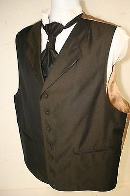 Stacy Adams Land Barrons Notched Lapel Vest Men 46R Cowboy SASS Steampunk 2904