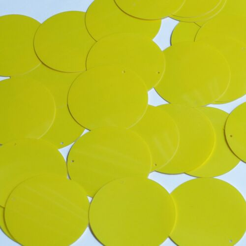 Round Sequin 40mm Yellow Opaque Glossy High Shine Loose Couture Paillettes