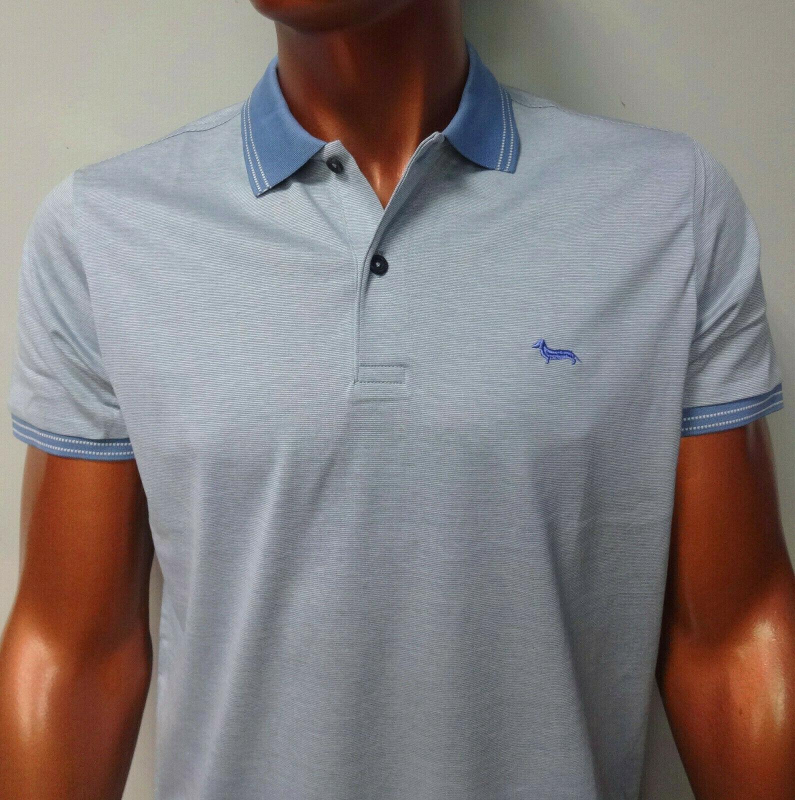 ''ON SALE'' NEW HARMONT & BLAINE bluee polo shirt SLIM FIT sz - M;L;XL;XXL