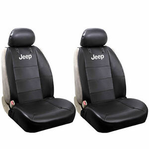 Jeep Seat Covers >> Details About Officially Licensed Synthetic Leather Universal Sideless Seat Covers For Jeep