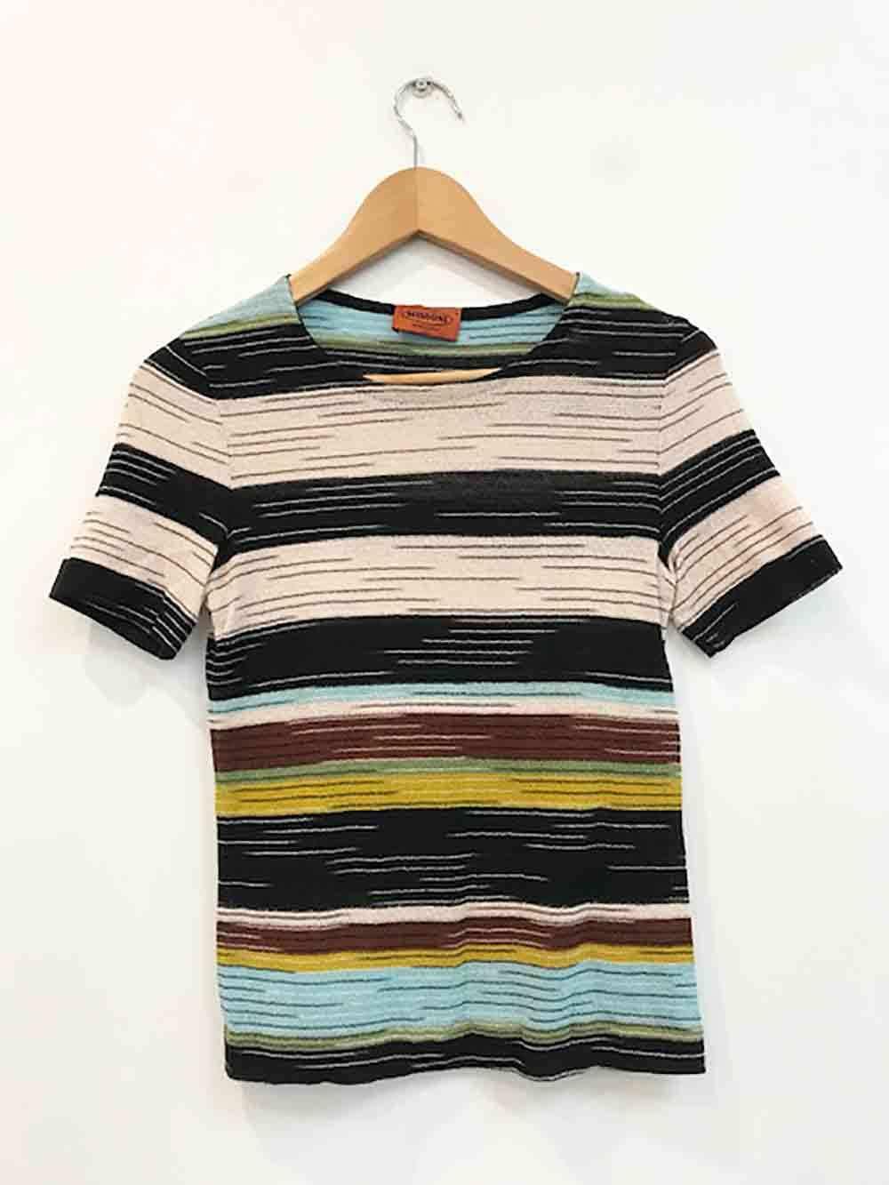 Designer Missoni VTG Größe Small Classic Missoni Knit Cotton Blend Woherren Top