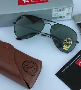 21180379203c NEW AUTHENTIC RAY BAN AVIATOR RB3025 L2823 58MM GREEN G-15 LENS ...