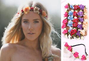 Detalles acerca de Flor Corona Pelo Banda Diadema Boho Hippy Hippie Floral  Novia Chicas 7 Colores- mostrar título original 3737aa889a5