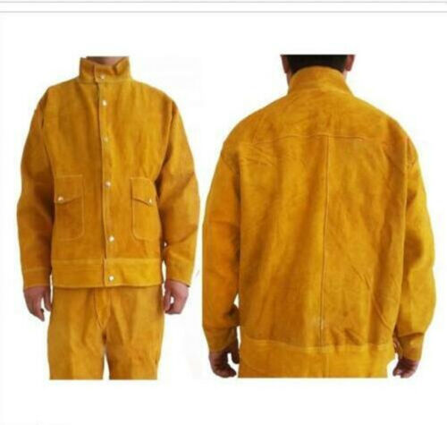 New Leather Welding Protective Clothing Apparel Suit for Welder T