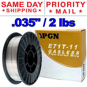 2lb .035 E71T-11 Flux Cored Gasless Steel Mig Weld Wire with Free Contact Tip Included M-.035 2pcs