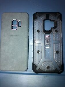 Lot-Of-2pc-Samsung-Galaxy-S9-Uag-Case-Original-Baby-Blue-Case