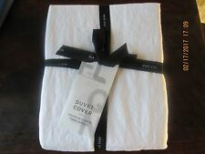 West Elm Belgian Linen Duvet cover in White, size full/queen, brand new