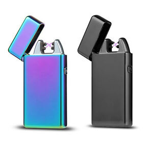 Rechargeable-Electric-LIGHTER-Double-ARC-PULSE-Flameless-Plasma-Clipper-USB-UK