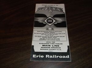 OCTOBER-1958-ERIE-RAILROAD-FORM-7-MAIN-LINE-NEWARK-BRANCH-PUBLIC-TIMETABLE