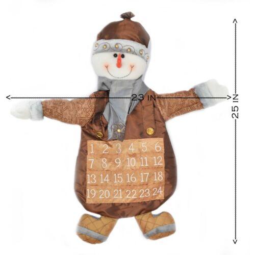 Fabric Christmas Snowman Advent Calendar Xmas Decorations