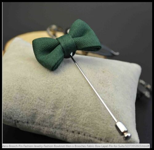 NEW Men/'s Mini Bowknot Corsage Boutonniere Brooch Fabric Lapel Pin Wedding//Suit