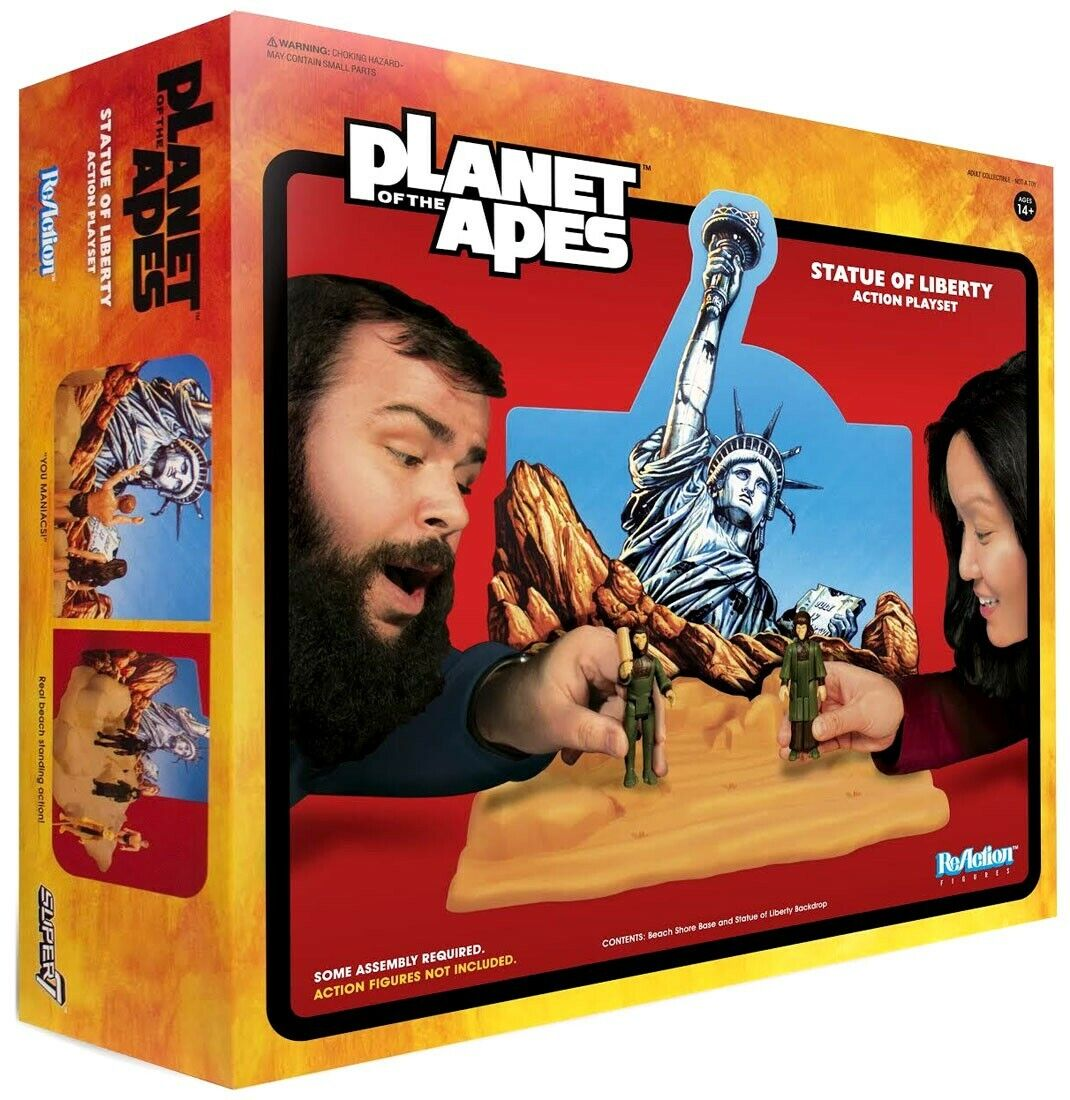 ReAction Planet Planet Planet of the Apes Statue of Liberty Action Exclusive 3.75-Inch Playset fb614c