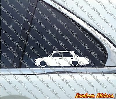 2X Lowered car outline stickers For Lada Riva sedan VAZ-2107