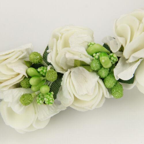 Braut Haarschmuck Haarblume Rosen Blume Schmuck Haarreifen Hochzeit Brautschmuck