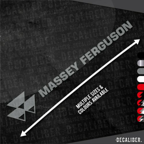 Multiple Sizes /& Colours Tractor Massey Ferguson with Badge Left Sticker Decal