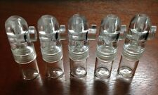Snuff Bullet Ultimate Acrylic Lot - 5 Clear Top Bullets with Clear Bottoms